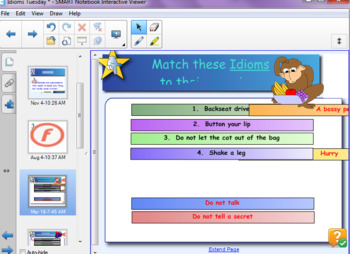 Idioms Unit: Smart Notebook Lesson 2 of 3