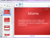Idioms Unit: Smart Notebook Lesson 3 of 3