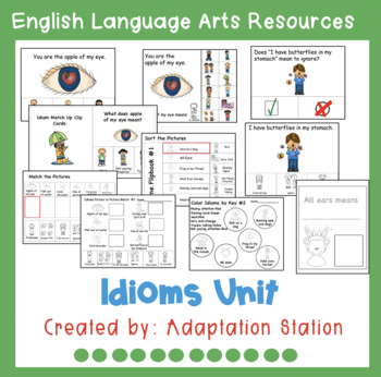 Idioms Unit for Special Education-A VAAP Resource