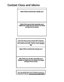 Idioms Visual Sentences