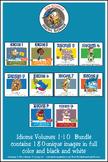 Idioms Volumes 1-7  Cartoon Clipart Bundle: Idioms cartoons for all grades
