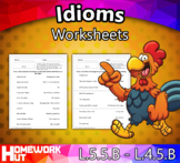 Distance Learning - Idioms Worksheets