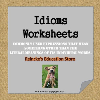 Idioms Worksheets for Practice (10 Worksheets!)