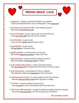 English: Idioms about Love