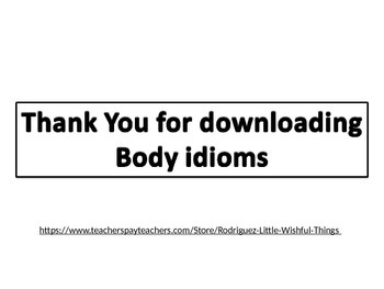 Idioms about body parts