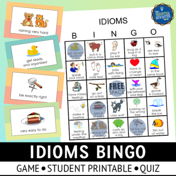 Idioms and Adages Bingo