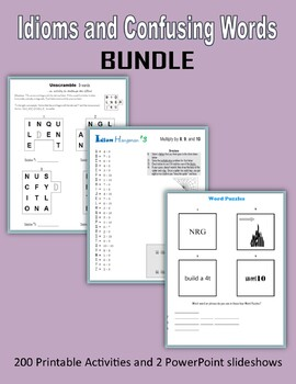 Idioms and Confusing Words BUNDLE