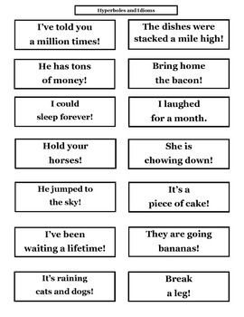 Idioms Meaning Sort