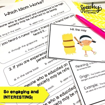 Idioms and Origins - Idioms Worksheets and Flash Cards