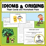Idioms Worksheets and Flash Cards for Figurative Language