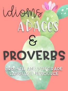 Idioms and Proverbs Bundle