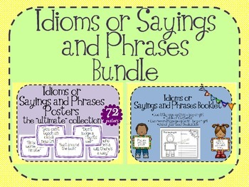 Idioms  Sayings and Phrases BUNDLE
