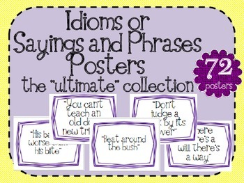 Idioms Sayings and Phrases Posters