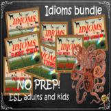 Idioms collection bundle ESL, EFL, ELL adult and kid conversation