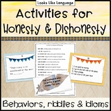 Thanksgiving Language Activities- Idioms for Honesty & Riddle Games