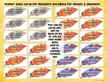 Thanksgiving Language Activities for Idioms and Inferences