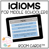 Idioms for Middle Schoolers: Speech Therapy Boom Cards™
