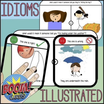 Idioms for Speech Therapy w. Visuals - Picture Choices for Real v. Figurative