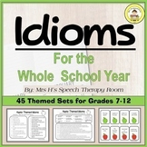 *new product discount* Idioms for Speech and Language Therapy Bundle