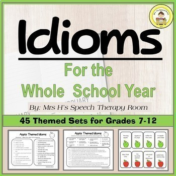 Idioms for Speech and Language Therapy Bundle