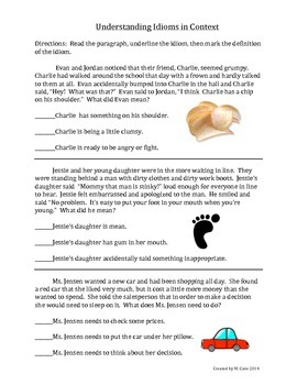 Idioms in Context 4 with Practice Cards