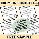 Idioms in Context for Speech Therapy Free Sample