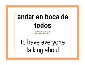Idioms in Spanish/English (in color)