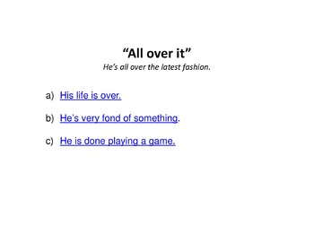 Idioms interactive quiz FREEBIE