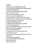 Idioms list quiz