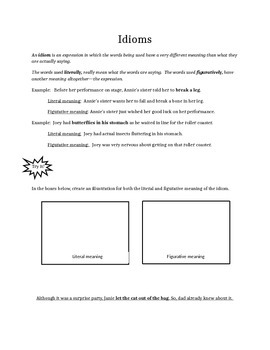 Idioms notes and activity