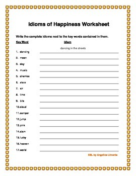 English Idioms of Happiness