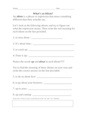 Idioms using about and to
