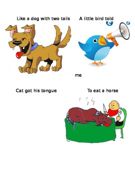 Idioms with Animals WARM UP