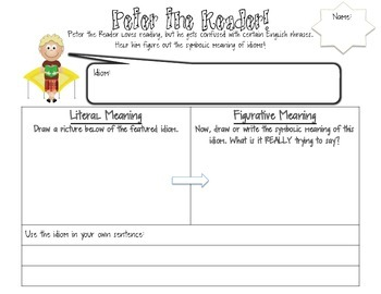 Idioms with Peter the Reader