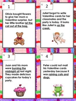 Idiom Bingo with a Valentine Theme