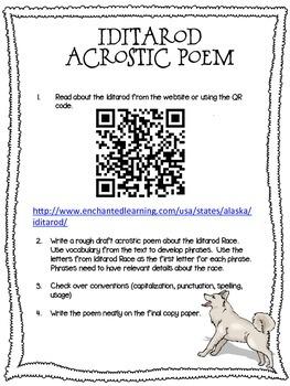 Iditarod Acrostic Poem