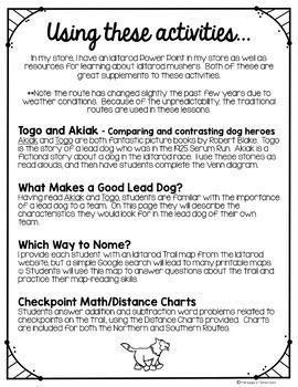 Sled Dog Race Across Alaska Activities