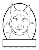 Husky-Shaped Sled Dog Activities Pack - Balto - Togo