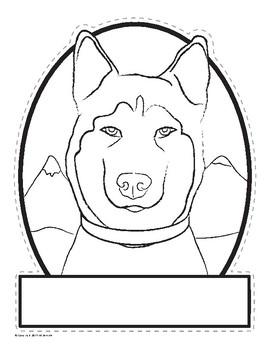 Husky-Shaped Sled Dog Activities Pack - Balto - Togo