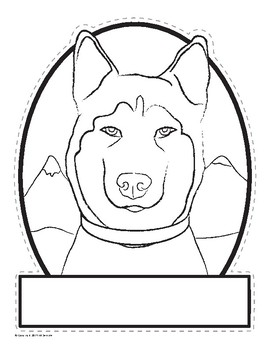 Husky-Shaped Iditarod Activities Pack