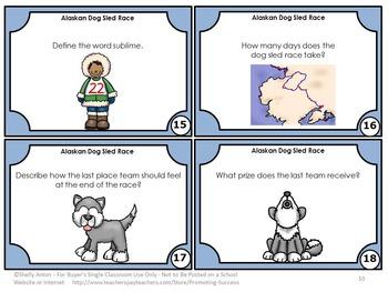 Iditarod Reading Comprehension Questions, Alaska Dog Sled Race