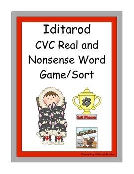 Iditarod CVC Real and Nonsense Word Sort/Game