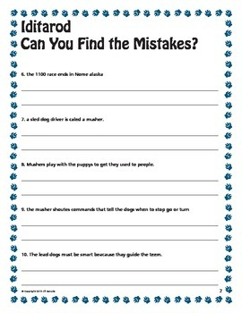 Iditarod - Can You Find the Mistakes?