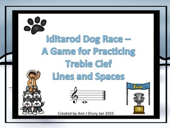 Iditarod Dog Race - A Game to Practice Treble Clef Notation