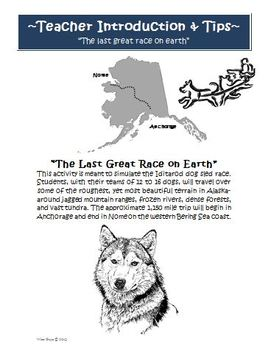 Iditarod Sled Dog Simulation Race Activity Northern Route