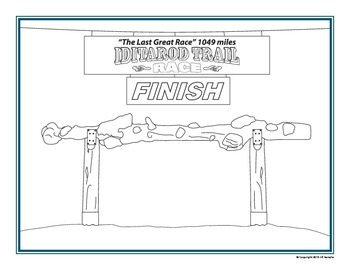 Iditarod Finish Line Coloring Page
