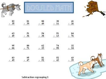 The Great Alaskan Dogsled Race Math and ELA Worksheet Packet