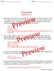 Iditarod Race ~Math Word Problems, Vocab. Crossword, and Time Line~ Alaska March