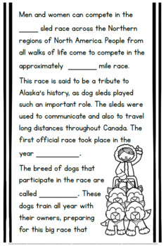 Iditarod Research-Based Craftivity for Grades 2-4