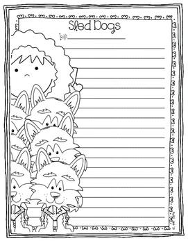 Sled Dog Race Writing and Craftivity